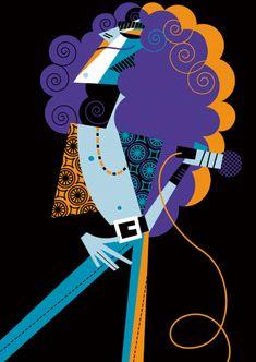 Robert Plant by Pablo Lobato Music Illustration, People Illustration, Plant Illustration, Graphic Illustration, Cartoon Drawings, Art Drawings, Movie Poster Art, Robert Plant, Art For Art Sake