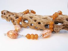 Sterling Silver Wire Wrapped Necklace Fire Agate by Readesign, $40.00-New beautiful item!