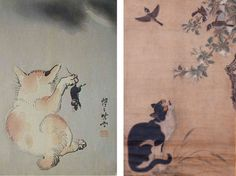 Котики на японских картинах 19-го века