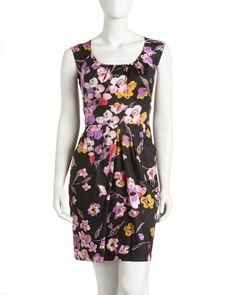 Floral-Print Cap-Sleeve Dress by maxandcleo at Last Call by Neiman Marcus.