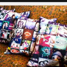 Instagram pillows... Cute I think