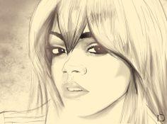 Guess who? Just sketching around… #rihanna #sketch #Illustration #drawing #sammalidesign