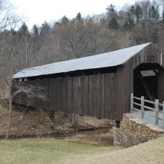 Locust Creek Covered Bridge West Virginia, USA - only remaining covered bridge in Pocahontas County, WV.  Pedestrian traffic only now.