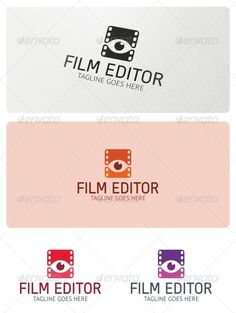 Film Editor  - Logo Design Template Vector #logotype Download it here: http://graphicriver.net/item/film-editor-logo-template/5215722?s_rank=798?ref=nesto