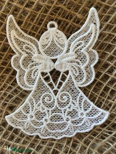 Csipkeangyal-6 (Cottonfresh) - Meska.hu Crochet Earrings, Diy, Jewelry, Do It Yourself, Jewellery Making, Jewerly, Bricolage, Jewelery, Jewels