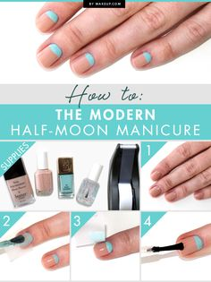 How to: The Modern Half-Moon Manicure