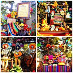 """Dia de Muertos en Disney #HalloweenTime ¿Sabes sobre la festividad del DIA DE MUERTOS?  """"El Día de Muertos es considerado la tradición más representativa de la cultura mexicana""""  """"La creencia popular es que las almas de los seres queridos que se nos fueron regresan de ultratumba durante el Día de Muertos. Por tal motivo, se les recibe con una ofrenda donde se coloca su comida y bebida favorita, fruta, calaveritas de dulce y, si fuese el caso, juguetes para los niños.""""  photo by pinterest"""