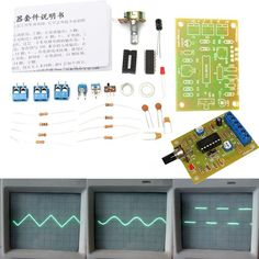 Clock Kit Temperature Light Control Version DIY 4 Digit LED Electronic. DIY ICL8038 Function Signal Generator Module Sine Square Triangle Wave Output KIT     Feature:    With excellent performance ASIC chip function generator ICL8038, add a small amount of resistive and capacitive components, can produce sine, triangle and square wave, and the frequency of the signal, duty cycle, adjustable distortion sine wave.     Notice:     Requires a certain DIY ability, you need to soldering…