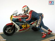 Racing Scale Models: Diorama - Freddie Spencer & Honda NS 500 1983 by Sennake (Tamiya)