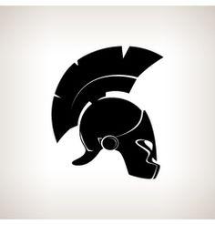 silhouette of helmet - forearm