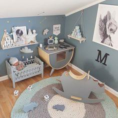 Round rug looping home Cool Kids Bedrooms, Boys Bedroom Decor, Baby Bedroom, Nursery Room, Kids Interior, Baby Painting, Bedroom Vintage, Kid Spaces, Home Decor Styles