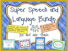Bundle contains 4 popular speech products! 55 pages of syntax, prepositions, plurals/singular, and personal pronouns!