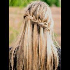 i will accomplish this someday! love the waterfall braid
