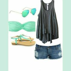 ◑Such a cute outfit to wear during the summer!◐☀
