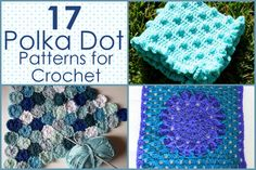 Polka Dot Patterns for Crochet Afghans from @AllFreeCrochetAfghanPatterns