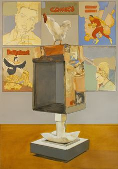 Ricardo Cadenas  Museo  2010. Óleo y lápiz sobre papel. 100x70cm    http://ricardocadenas.es/