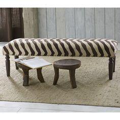 Zebra Kilim Bench