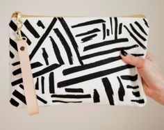 Black & White Marks Wristlet-Made to Order