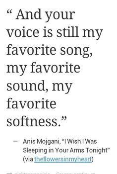 Your voice is still my favorite song, my favorite sound, my favorite softness.❤️