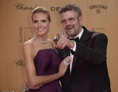 Family moment: Heidi attended the awards with her father Guenther Klum, who suited up for ...