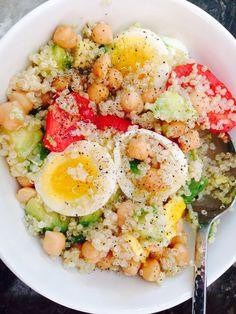 Quinoa salad improvisation.