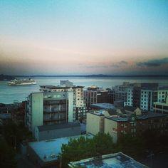 Cruise ship heading back to port.  Seattle, WA