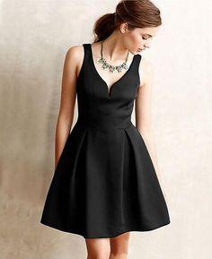 bca5d9737dc Elegant Sleeveless V-Neck High Waist Mini Dress. Fashion Party V-Neck  Sleeveless Ball Cute Mini Dresses 2016 Summer A-Line Pleated Elegant Women  Dress Plus ...