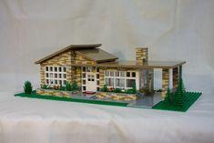 Lego Mid-Century Modern House