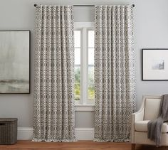 Terri Trellis Drape | Pottery Barn  Another Top Contender. I think this may be the best choice!
