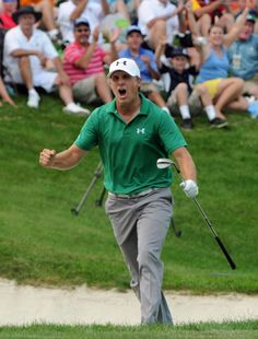 Jordan Spieth (John Deere Classic) Spieth didn't just become the first teenager to win on the PGA Tour in more than 80 years, he did it in dramatic fashion. Knowing he needed to hole a bunker shot on the final hole to have any chance, he did just that. When Zach Johnson bogeyed the same hole minutes later, Spieth got into a playoff he'd ultimately win.