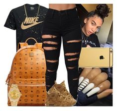 """""""Untitled #1655"""" by msixo ❤ liked on Polyvore featuring NIKE, Goldgenie, MCM and Rolex"""