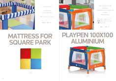 Mattress for Square Park / PlayPen 100x100 Aluminium by Asalvo l #madewithlove