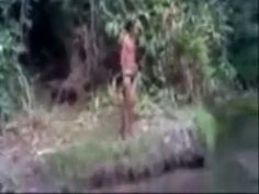 Strange Creature Caught on Tape by Indians Boys in Brazil. Scary. What is It? Alien? Ghost? - YouTube 1:14