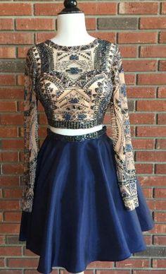 Prom Dresses,Evening Dress,2 Piece Homecoming Dress,Short Homecoming Dresses,Homecoming