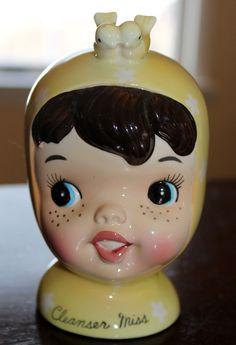 Vintage Napco Miss Cutie Pie Cleanser Miss. $124.99, via Etsy.