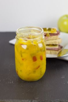 Sweet Mustard Pickles in Bottle