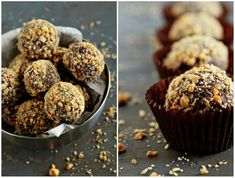 Nuts for Nutella: 24 Nutella Recipes to Make Now! - Bars, Brownies, and Bon Bons.Truffles too. - Nuts for Nutella: 24 Nutella Recipes to Make Now! via Brit + Co. Nutella Truffles with Frangelico - Homemade Milk Chocolate, Homemade Nutella Recipes, Hot Chocolate Cookies, Brownie Recipes, Greek Desserts, Easy Desserts, Delicious Desserts, Dessert Recipes, Yummy Food
