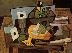 Still Life With Grapes And Clarinet by Georges Braque Handmade oil painting reproduction on canvas for sale,We can offer Framed art,Wall Art,Gallery Wrap and Stretched Canvas,Choose from multiple sizes and frames at discount price. Pablo Picasso, Picasso And Braque, Georges Braque, Francoise Gilot, Henri Fantin Latour, Still Life Artists, Oil Painting Reproductions, Museum Of Modern Art, Musical