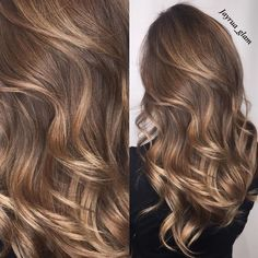 Medium Brown Hair with Shine-Boosting Highlights The way highlights accent … - Best New Hair Styles Brown Hair With Highlights And Lowlights, Brown Hair Balayage, Brown Blonde Hair, Honey Balayage, Balayage Highlights, Color Highlights, Sandy Brown Hair, Blonde Honey, Wavy Hair