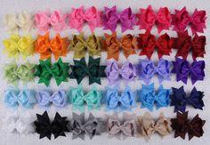 "Lot 30pcs girl baby toddler gift  3"" boutique Hair Bows Grosgrain ribbon 355 #handmade"