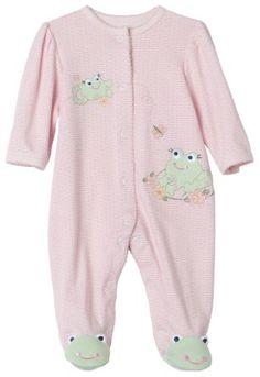 Baju Bayi Perempuan Baru Lahir - Little Me Frog Teman footie, Pink | Pusat Baju Bayi Terbesar dan Terlengkap Se indonesia