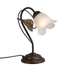 Tischleuchte Noale 1 rost -  Bringen Sie mit der Noale Serie die #Natur in Ihre Räume. Diese schöne, kunstvolle #Leuchte wird in Italien #handgefertigt. Das schön geformte Glas in einer Blumenform runder das ganz ab, sodass Sie diese jeden Tag genießen können.  # lampeundleuchten.at #Innenbeleuchtung #Tischleuchte