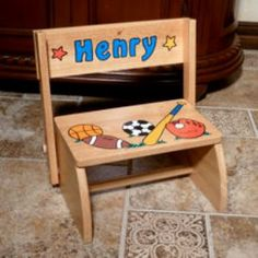 Personalized large white step stool from neat stuff gifts baby personalized large white step stool from neat stuff gifts baby baby pinterest baby baby and babies negle Image collections