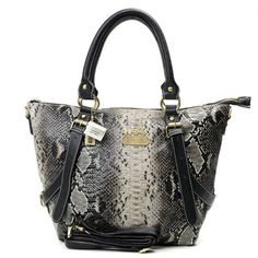 Cheap And Fashion Coach Snakeskin Embossed Medium Grey Totes DXF Are Here!