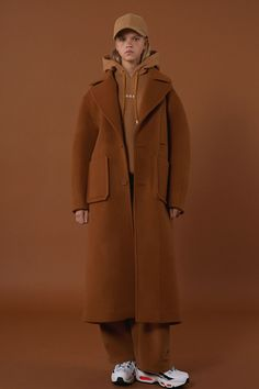 [unisex] Over size drop coat camel