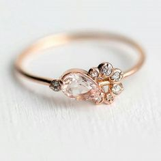 """Totally enamoured by this fabulous """"shortcake"""" ring by @melaniecaseyjewelry Such a brilliant name too...one to remember x #Repost @melaniecaseyjewelry ・・・ For all the morganite lovers out there, we have finally released a new mini cluster for you! Meet the new Shortcake ring Morganite and white diamonds in rose gold http://www.melaniecasey.com/shortcake-ring/"""