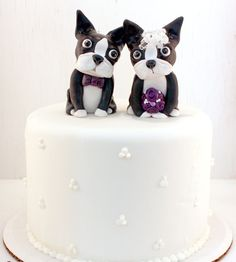 Boston Terrier Wedding Cake Toppers!