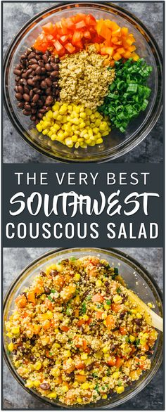 couscous cous cous salad | easy salad recipe | southwest salad recipe | vegetarian | party recipe | appetizer dish side dish recipe, cous cous salad recipes, cold cous cous salad, israeli cous cous, onions, greek mediterranean, pearl cous cous salad, healthy, summer, feta, chicken, moroccan via @savory_tooth