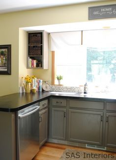 Kitchen revamp on pinterest freestanding kitchen home Revamp old kitchen cabinets