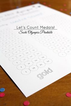 Medal count #printable for #Olympics  |  luluthebaker.com